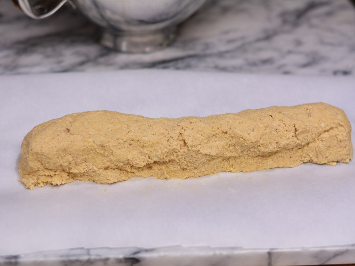 cookie dough formed into a log