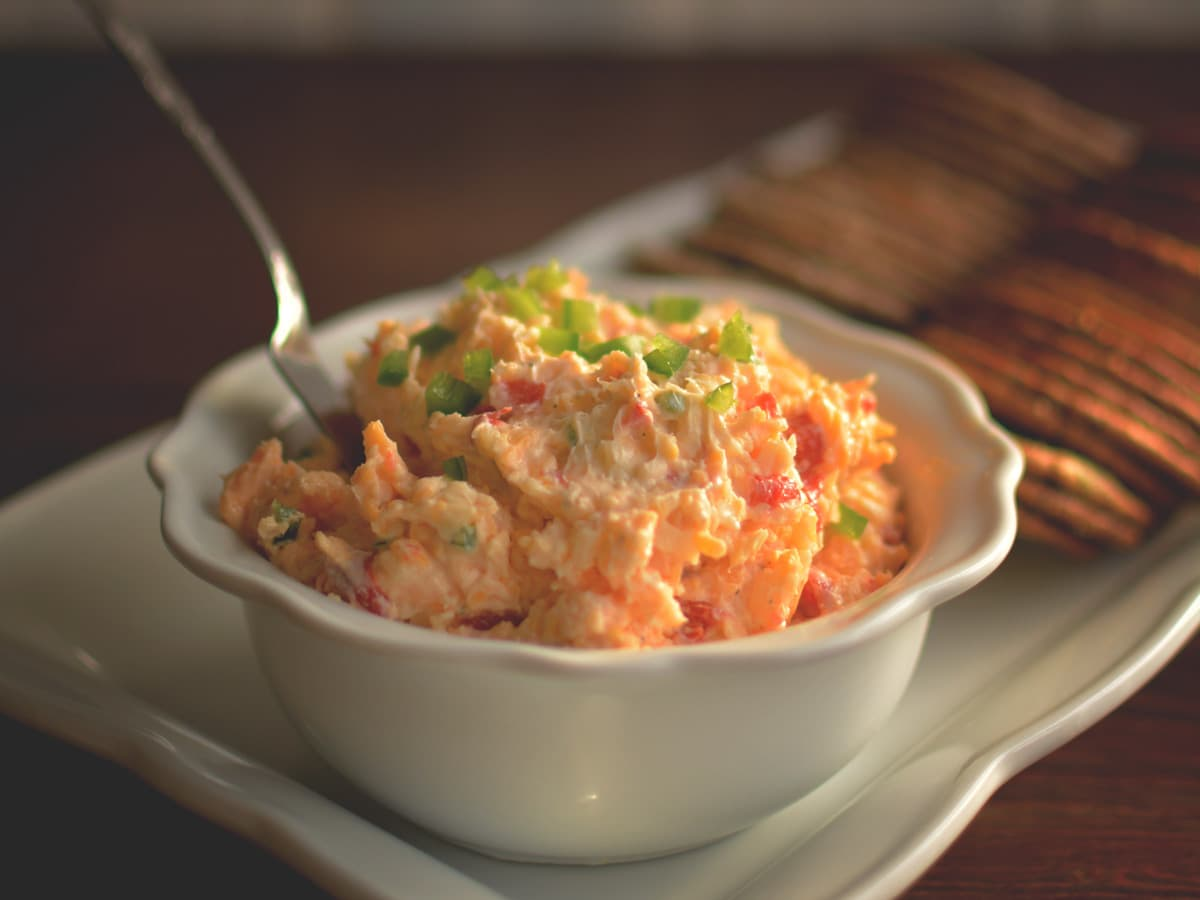 This Jalapeno Pimento Cheese Spread is a classic southern appetizer with a kick of a twist.